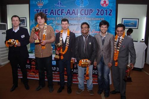 Участники турнира в Нью-Дели после награждения
