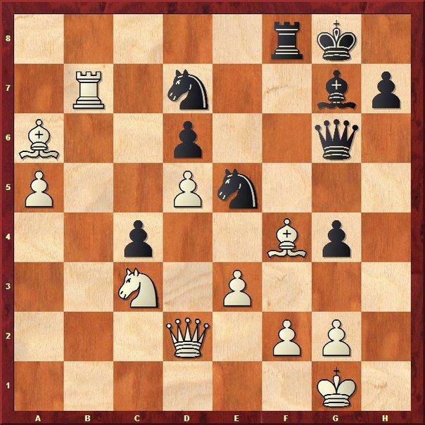 Легкая шахматная задача - выигрыш черных