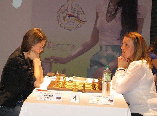 Татьяна Косинцева на чемпионате Европы 2013