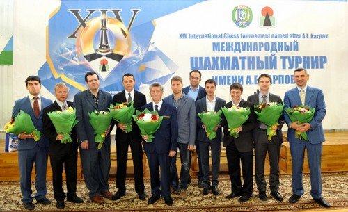 Участники 14-го международного шахматного турнира им. А. Карпова, 2013