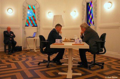 Ян Тимман и Анатолий Карпов