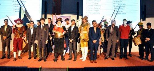 Фото с церемонии открытия Tata Steel 2014 - 2