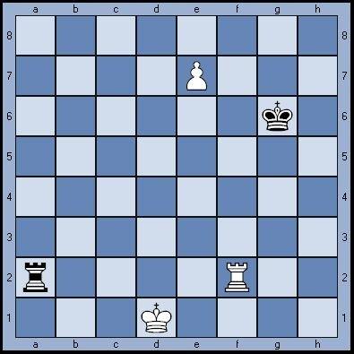 Задача по шахматам: ход черных, ничья