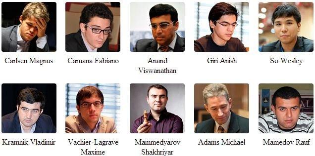 Участники турнира памяти Вугара Гашимова 2015