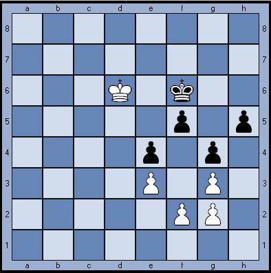 Задача по шахматам: пешечный эндшпиль