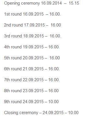 Расписание туров женского турнира в Польше