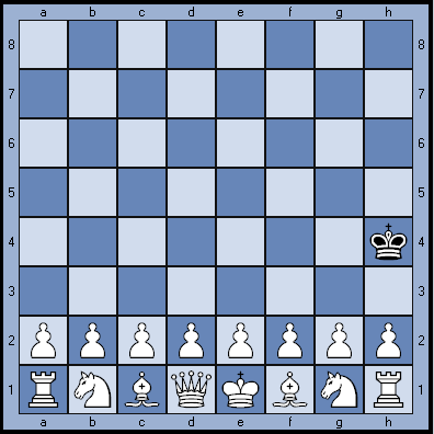 Задача, мат в 3 хода, белые начинают