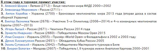 Участники турнира в Пойковском 2015