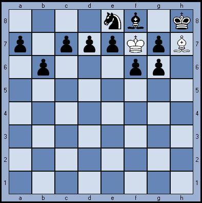 Кто сделал последний ход? Задача по шахматам 1979 года