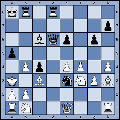 Черные начинают и дают мат в 4 хода
