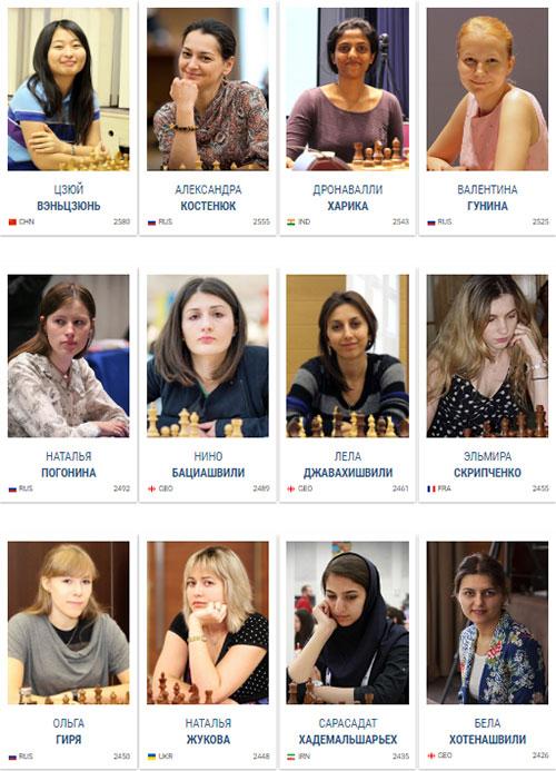 Участницы 5-го Гран-При среди женщин 2016