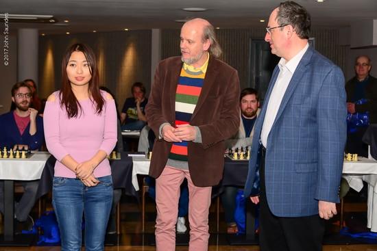 Борис Гельфанд и Цзюй Вэньцзюнь на Tradewise Gibraltar Chess Festival 2017