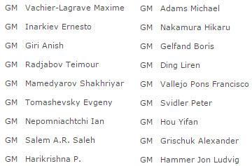 Участники второго этапа Гран-при ФИДЕ 2017, Москва