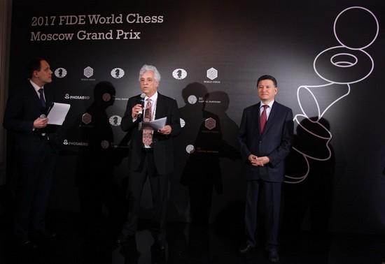 На открытии второго этап Гран-при ФИДЕ 2017, Москва