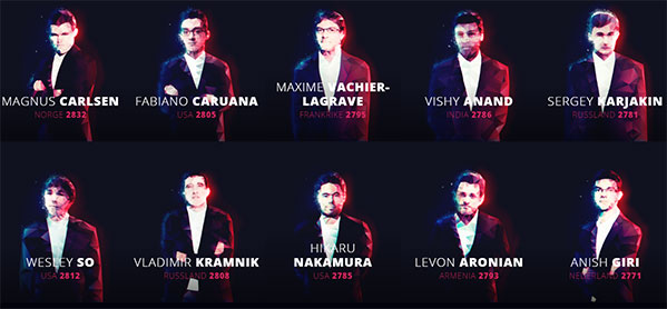 Участники турнира в Ставангере 2017