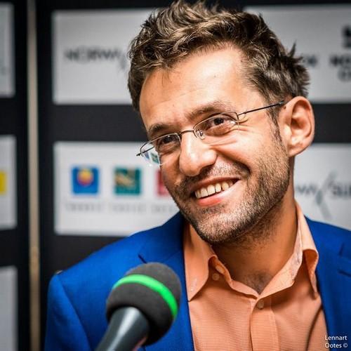 Левон Аронян после победы над Магнусом Карлсеном в Ставангере, 2017