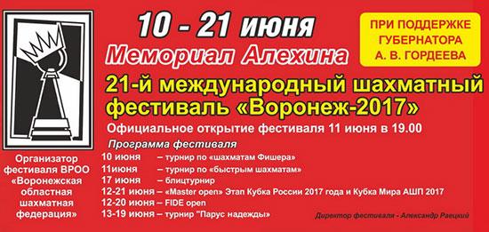 Мемориал Алехина 2017, Воронеж, онлайн