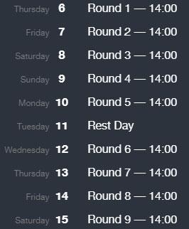 Расписание туров