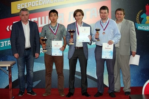 Даниил Дубов стал победителем Высшей лиги чемпионата России среди мужчин 2017
