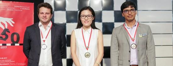 Хоу Ифань выиграла турнир в Биле, 2017 год, призеры