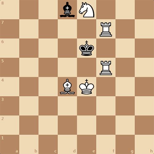 Задача: белые дают мат в 2 хода