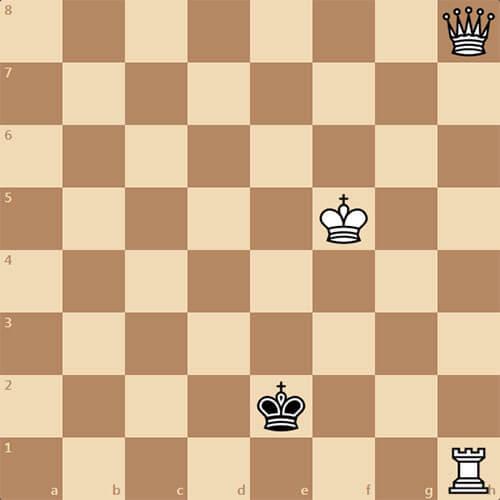 Простая задача, белые начинают и дают мат в 2 хода
