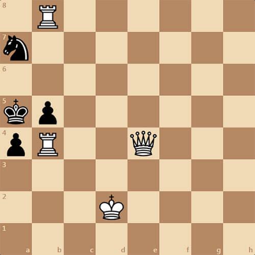 Белые начинают и дают мат в 2 хода