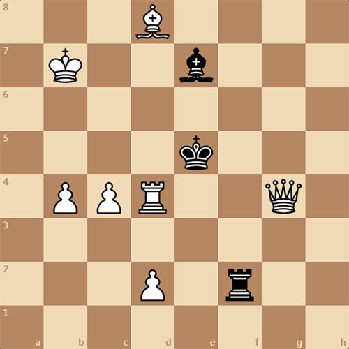 150-летняя задача по шахматам, мат в 2 хода