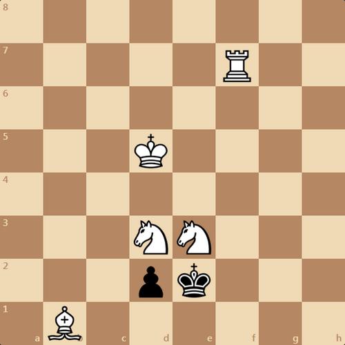 Веселенькая задачка, мат в 3 хода