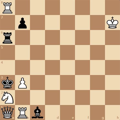 Задача по шахматам, пятничный мат в 2 хода