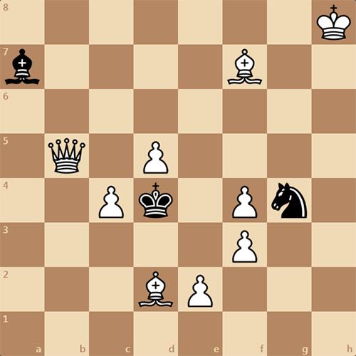 Мат в 2 хода, решить задачу по шахматам