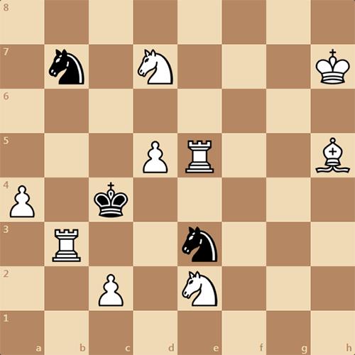 Мат в 2 хода. Задача по шахматам.