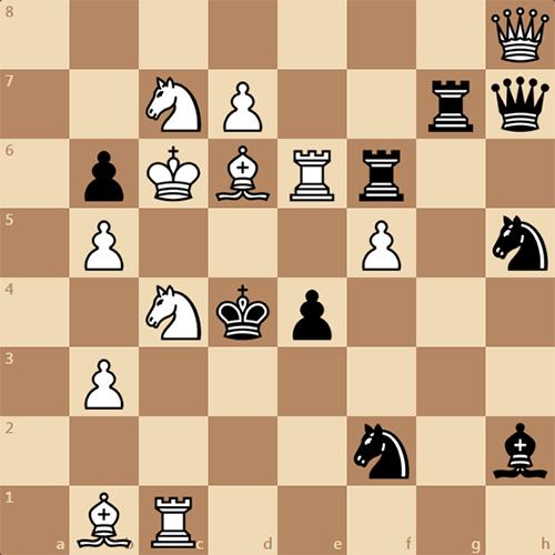 Мат в 2 хода. Шахматная задача