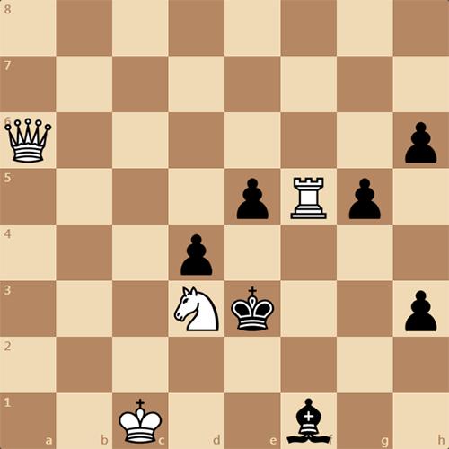 Мат в 3 хода. Задача по шахматам.