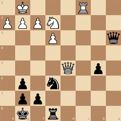 Найдите выигрыш за черных