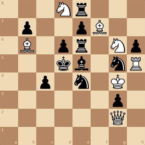 Запутанная позиция, мат в 2 хода
