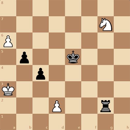 Этюдный выигрыш, задача по шахматам