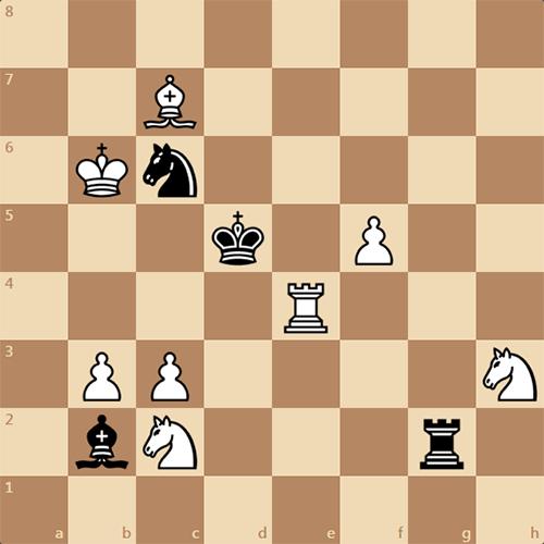 Задача по шахматам, милая двухходовка