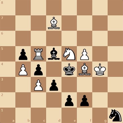 Черные получают мат в 4 хода