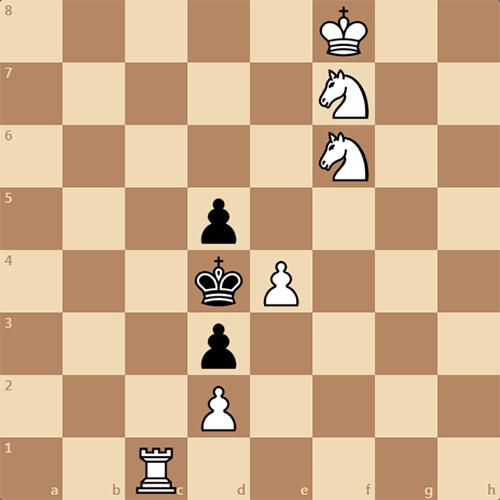 Задача по шахматам, рядовой мат в 3 хода