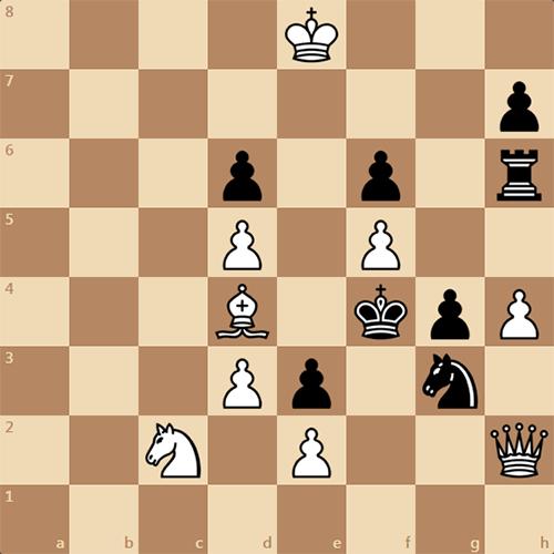 Занимательная трехходовка, задача по шахматам