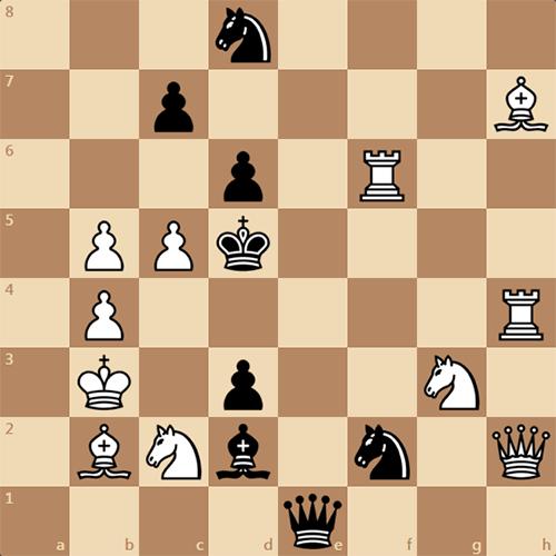 Шахматная задача, мат в 2 хода