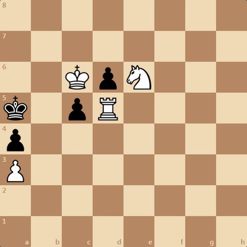 Быстрый мат в 3 хода, шахматная задача