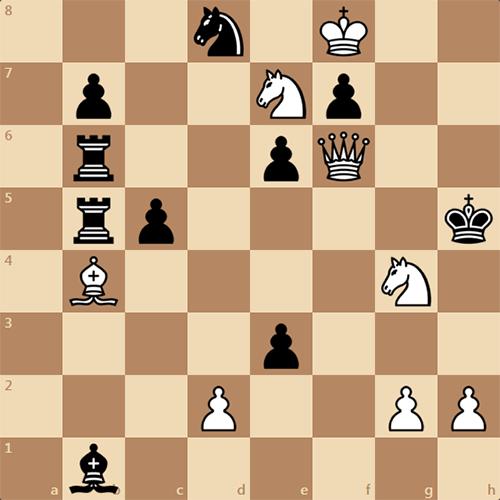 Еще одна трехходовка, шахматная задача