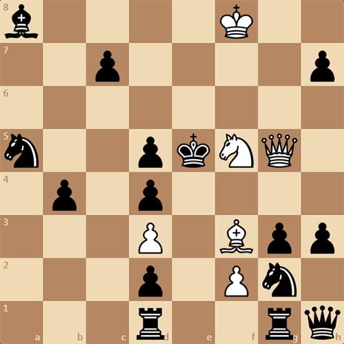 Мат в 4 хода, решите задачу по шахматам