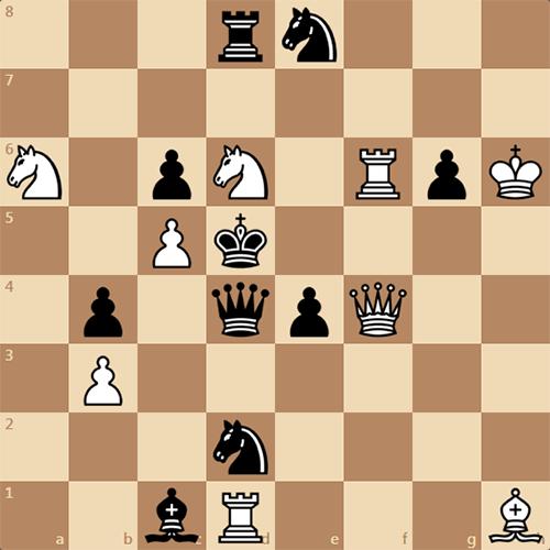 Решите шахматную задачу. Мат в 2 хода