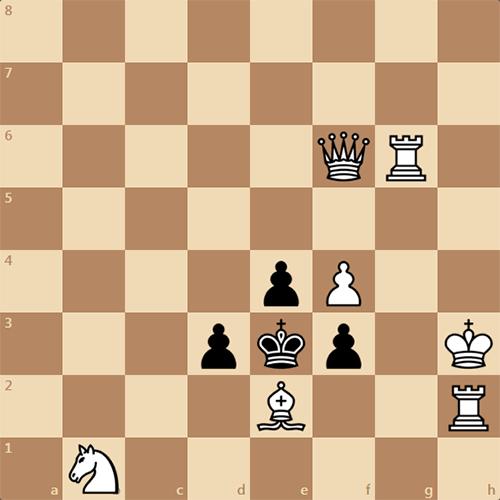 Мат в 2 хода, задача по шахматам