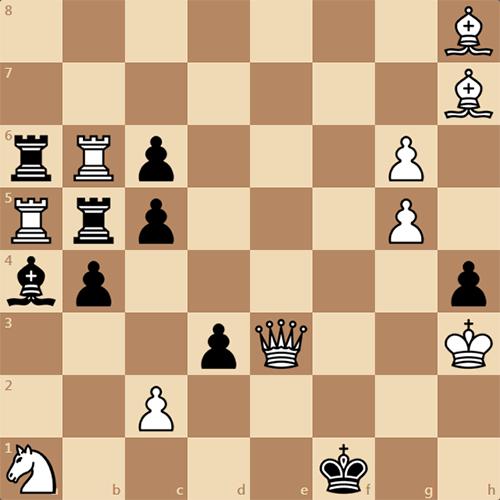 Интересный мат в 3 хода, авторы Н. Быков и В. Габа