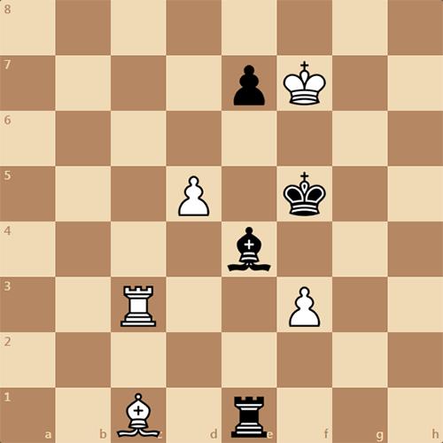 Шахматный этюд, автор Ю. Базлов