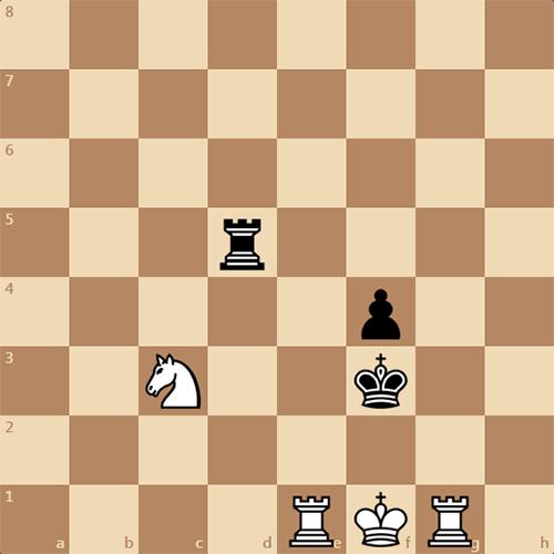 Легкая задача по шахматам, мат в 2 хода